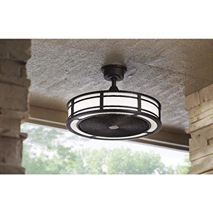 Most Current Brette Indoor/outdoor Ceiling Fan With Two 23W Led Light Strips, 23 Intended For Outdoor Ceiling Fans With Led Lights (View 9 of 15)