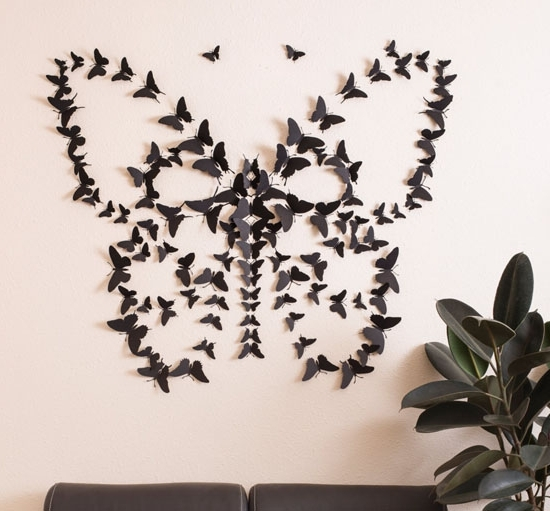 Most Current Butterflies 3D Wall Art Intended For 3D Butterfly Wall Decor Roselawnlutheran, 3D Butterfly Wall Art (View 7 of 15)