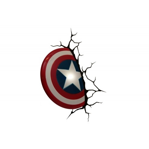 Most Current Captain America 3D Wall Art In The Avengers 3D Wall Art Nightlight – Captain America (View 2 of 15)