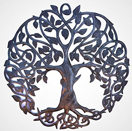 Most Current Celtic Tree Of Life Wall Art Inside Amazon: It's Cactus – Metal Art Haiti Celtic Inspired Tree Of (View 11 of 15)