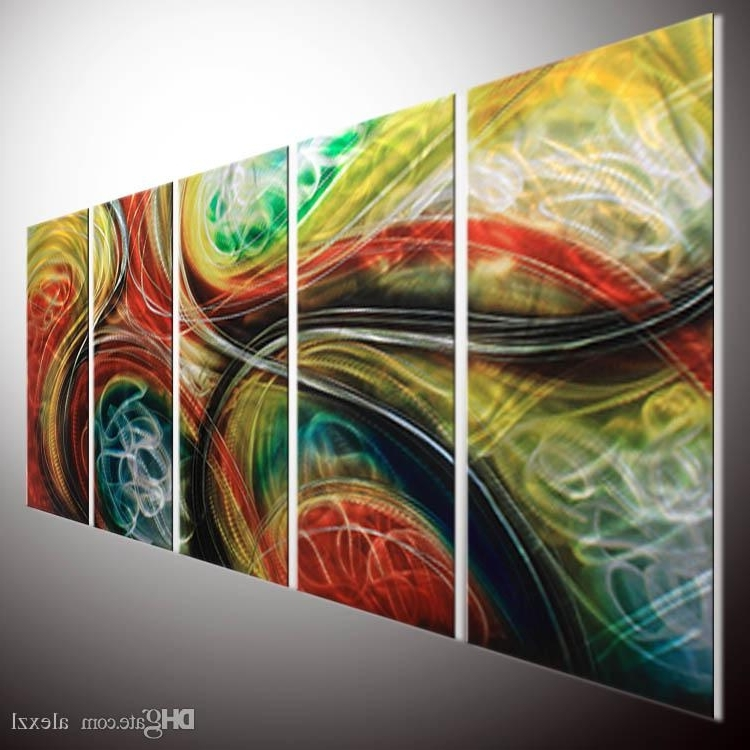 Most Current Contemporary Abstract Wall Art For 2018 Contemporary Abstract Painting Abstract Wall Art Metal Wall Art (View 7 of 15)