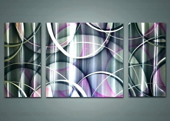 Most Current Dark Purple Abstract Wall Art Intended For Decoration: Dark Purple Wall Art (View 4 of 15)