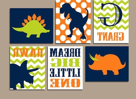 Most Current Dinosaur Canvas Wall Art With Regard To 43 Dinosaur Wall Art, Dinosaur Canvas Wall Art Set Of 3 Kool Rooms (View 3 of 15)