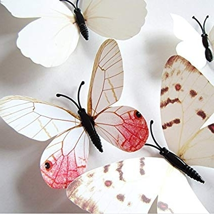 Most Current Diy 3D Wall Art Butterflies With Buy Amaonmâ® 24Pcs 3D Vivid Special Man Made Lively Butterfly Art (View 9 of 15)