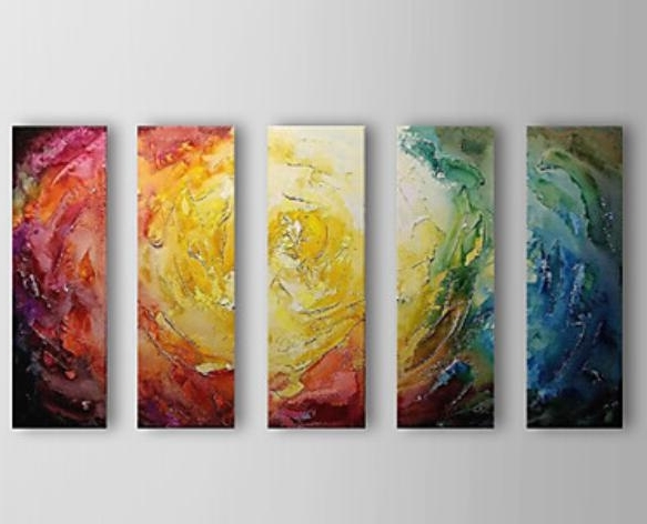 Most Current Fabric Canvas Wall Art Regarding Color Your Life Top Quality Modern Abstract Oil Painting On Fabric (View 10 of 15)