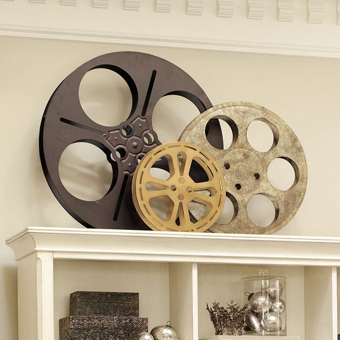 Most Current Film Reel Wall Art Within Winsome Design Movie Theater Wall Decor New Trends Authentic Film (View 8 of 15)