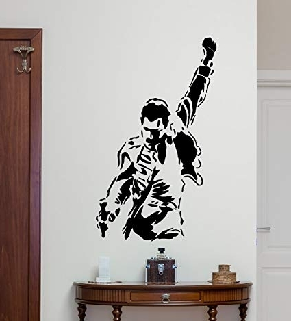 Most Current Freddie Mercury Wall Art In Freddie Mercury Wall Decal Queen Band Rock Music Vinyl Sticker (View 3 of 15)