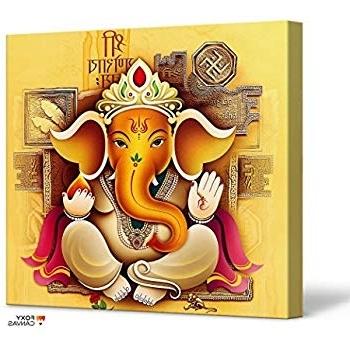 Most Current Ganesh Wall Art Inside Amazon: Foxycanvas Lord Ganesh Ganpati Hindu God Ganesha Giclee (View 11 of 15)