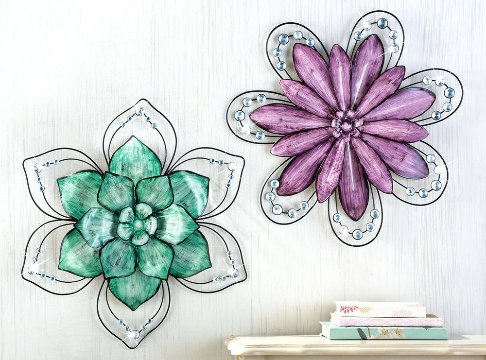 Most Current Gemstone Wall Art Collections Etc Gemstone Floral Metal Wall Art Pertaining To Gemstone Wall Art (View 13 of 15)