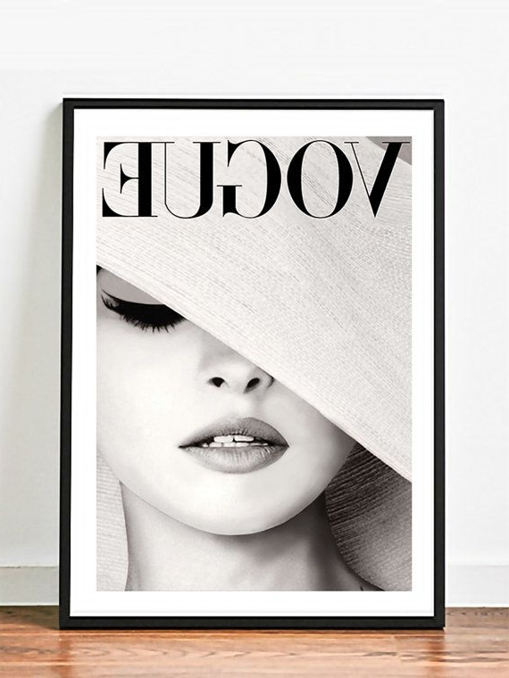 Most Current Gloss Paper Vogue Hat – Famous Photography Chanel Bazaar – Wall Intended For Chanel Wall Decor (View 4 of 15)