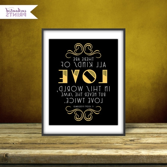 Most Current Great Gatsby Wall Art Pertaining To F (View 10 of 15)