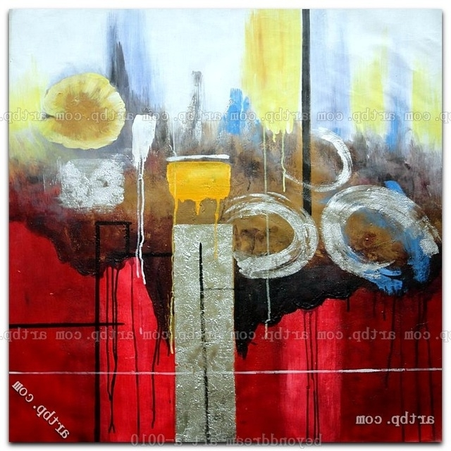 Most Current Happiness Abstract Wall Art Intended For Circles Of Happiness Oil Painting Abstract Modern Nonobjective (View 10 of 15)