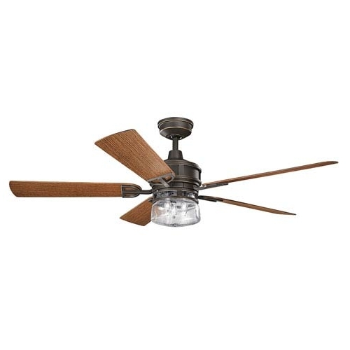 Most Current Kichler Lyndon Patio Olde Bronze 60 Inch Outdoor Ceiling Fan With In 60 Inch Outdoor Ceiling Fans With Lights (View 15 of 15)