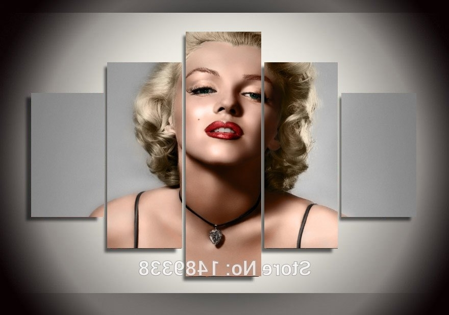 Most Current Marilyn Monroe Framed Wall Art In Framed High Quality Modern Printed On Canvas Marilyn Monroe Print (View 11 of 15)