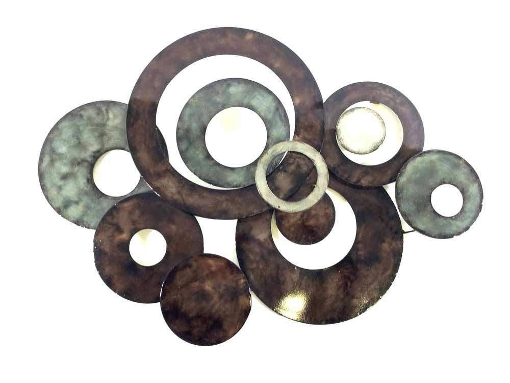 Most Current Metal Circle Wall Decor Unique Metal Wall Art Bronze Linked Circle Intended For Abstract Circles Wall Art (View 9 of 15)
