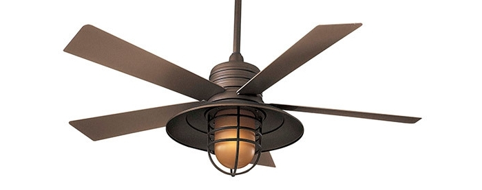 Most Current Metal Outdoor Ceiling Fans With Light Regarding Metal Outdoor Ceiling Fans (View 9 of 15)