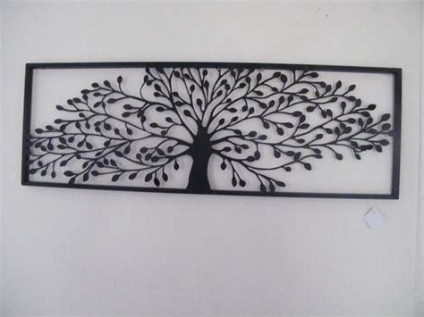 Most Current Metal Pine Tree Wall Sculpture, Black Metal Tree Wall Art Throughout Metal Framed Wall Art (View 7 of 15)