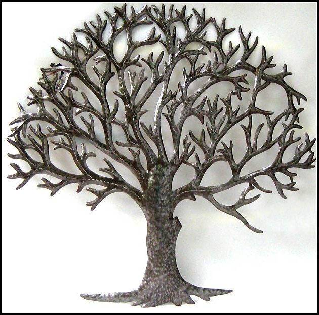 Most Current Metal Tree Wall Art Natural Metal Tree Wall Art Decoration, Tree With Metal Wall Art Trees And Branches (View 13 of 15)