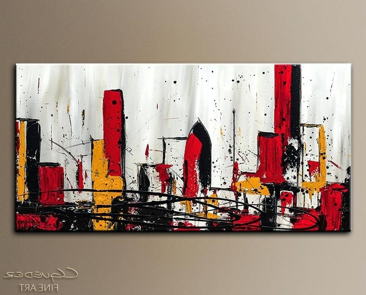 Most Current Modern Abstract Wall Art Painting For Abstract Wall Art Modern City Abstract Art Painting Imagecanvas (View 8 of 15)