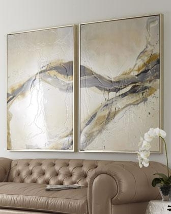 Most Current Neutral Abstract Wall Art Intended For Ascent' Wall Art – Neiman Marcus (View 6 of 15)