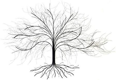 Most Current Oak Tree Wall Art In Wall Art Metal Wall Art – Oak Tree: Amazon.co (View 5 of 15)