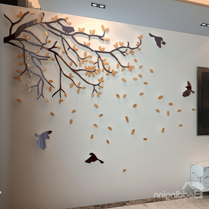 Most Current Orange Tree And Birds Acrylic Sturdy Waterproof Eco Friendly Inside 3D Tree Wall Art (View 10 of 15)