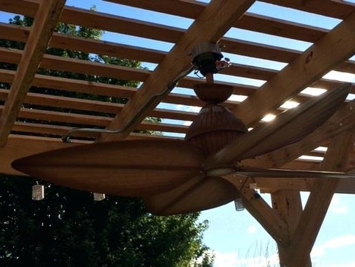 Most Current Outdoor Ceiling Fans Under Pergola With Regard To Waterproof Ceiling Fan Need Help Mounting Our New Outdoor Ceiling (View 4 of 15)