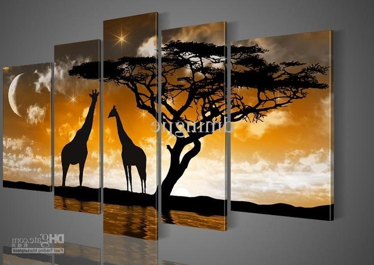 Most Current Painted Trees Wall Art With Regard To 2018 Hand Painted Oil Wall Art Goldencloud Tree Landscape Oil (View 12 of 15)