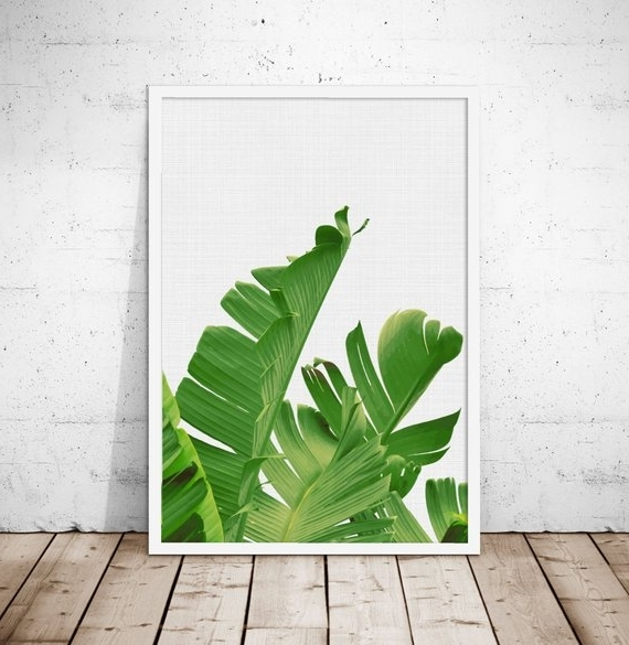 Most Current Palm Leaf Wall Art Pertaining To Banana Leaf Wall Art Tropical Art Palm Leaf Wall Art (View 4 of 15)