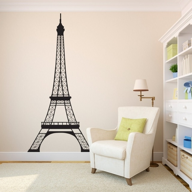 Most Current Paris Theme Nursery Wall Art In Eiffel Tower Childrens Wall Art Nursery Decor Wall Stickers Paris (View 3 of 15)