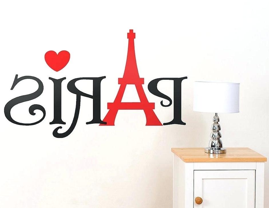 Most Current Paris Themed Wall Art Word Wall Sticker Vinyl Wall Art Paris Themed Intended For Paris Vinyl Wall Art (View 5 of 15)