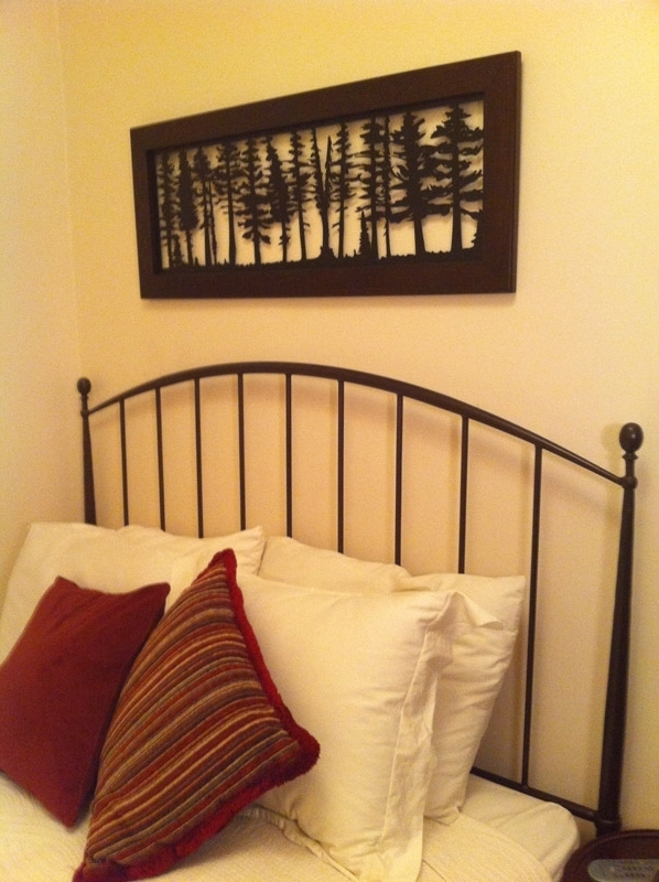 Most Current Pine Tree Row Custom Laser Cut Metal Panels Railingart Metal Pine With Pine Tree Wall Art (View 3 of 15)