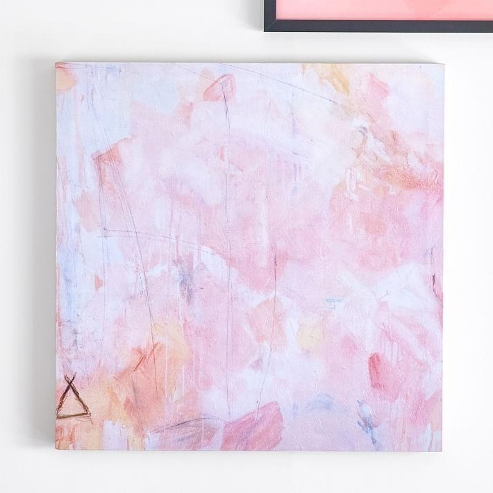 Most Current Pink Abstract Wall Art With Regard To Isabella Rose Taylor Abstract Canvas Art (View 7 of 15)