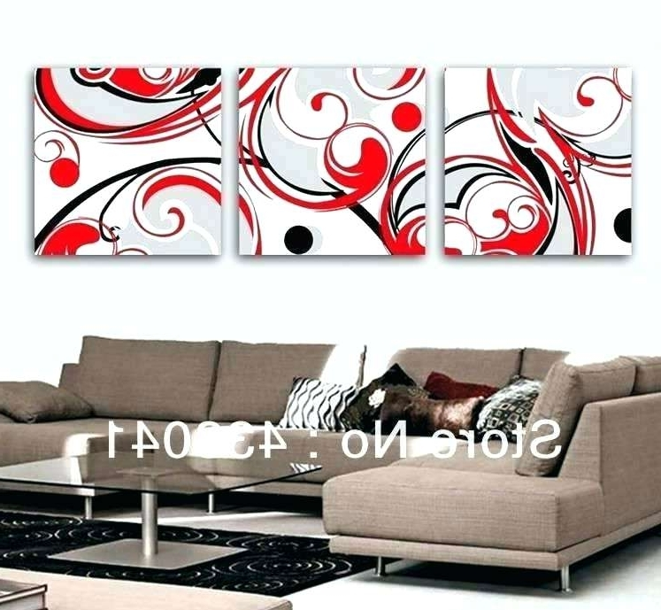 Most Current Red And Black Wall Art Red Red Black And Cream Wall Art – Hekj In Black And White Wall Art With Red (View 15 of 15)
