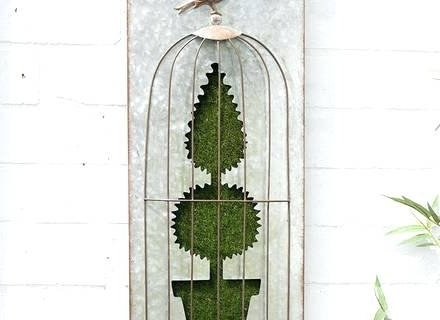 Most Current Topiary Wall Art Pertaining To Topiary Wall Art Flocked Topiary Wall Art Bird Cageoxford (View 6 of 15)