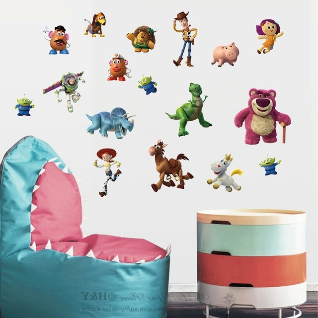 Most Current Toy Story Wall Stickers With Regard To Aliexpress : Buy 50Pcs/pack New Toy Story Wall Stickers Kids (View 7 of 15)