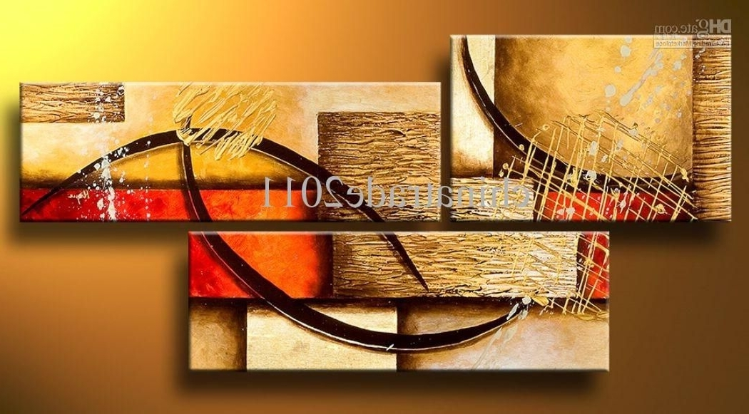 Most Current Wall Art Multiple Pieces With Regard To Art Modern Abstract Oil Painting Multiple Piece Canvas Art Sets  (View 10 of 15)