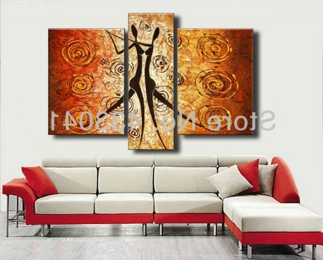 Most Current Wall Art Sets For Living Room Regarding Hand Painted Piece Canvas Wall Art Sets Oil Abstract Decorat (View 14 of 15)