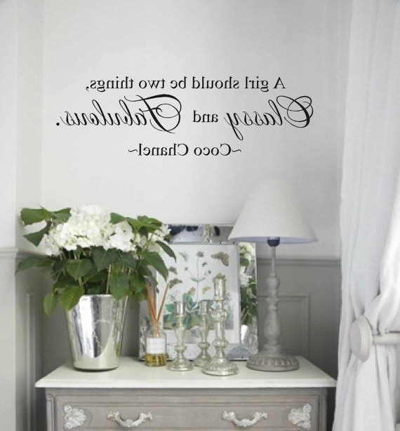 Most Current Wall Decal – Wall Vinyls Decals Art – Coco Chanel Wall Decal – A With Regard To Love Coco 3D Vinyl Wall Art (View 10 of 15)
