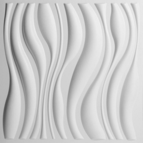 Most Current White 3D Wall Art Pertaining To Waves 3D Wallart Contemporary Wallpaper (View 7 of 15)