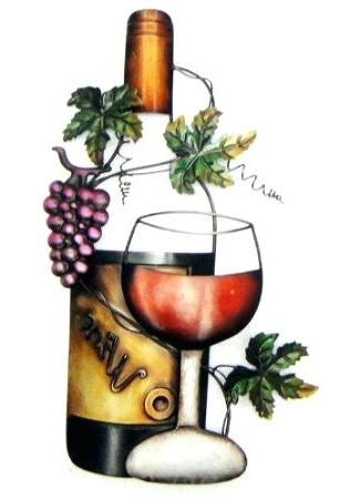 Most Current Wine Metal Wall Art 19 Classic Wine Garden Metal Wall Art Decor With Regard To Wine Metal Wall Art (View 11 of 15)