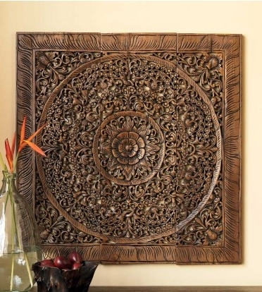 Most Current Wood Carved Wall Art Panels Within Buy Balinese Antique Wood Carving Wall Art Panel Online (View 3 of 15)