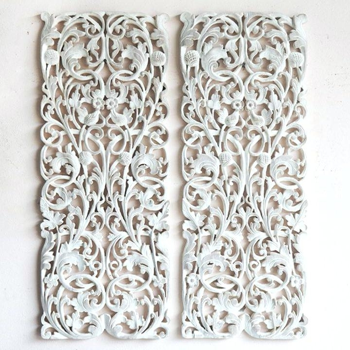Most Current Wood Wall Art Panels With Regard To Wall Carved Carved Wood Wall Panel Pair Of Wall Art Panel Wood (View 11 of 15)