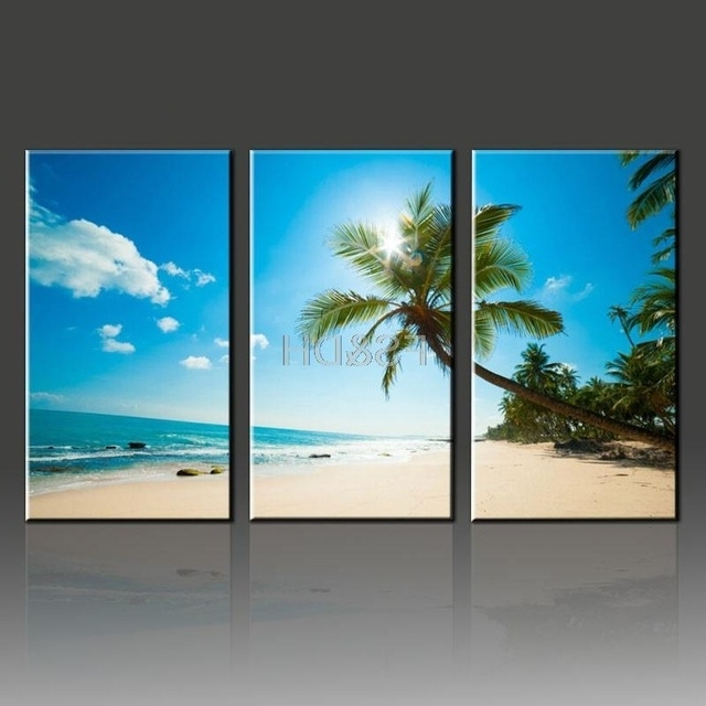 Featured Photo of 3 Piece Beach Wall Art