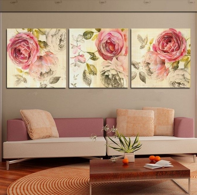 Most Popular 3 Set Canvas Wall Art Pertaining To Free Shipping 3 Piece Wall Art Home Decor For Your Family Modern (View 10 of 15)