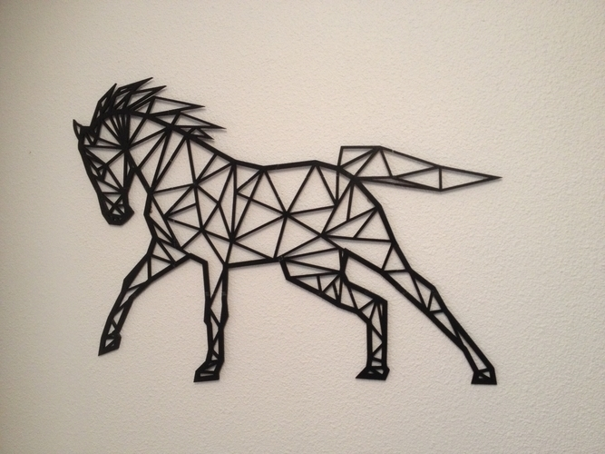 Featured Photo of 3D Horse Wall Art