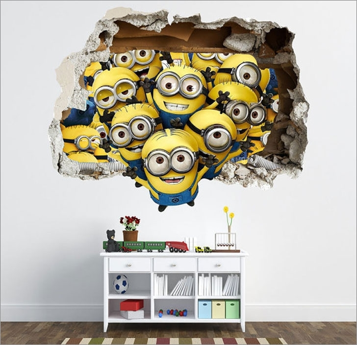 Most Popular 40 Coolest 3D Wall Decals & Stickers For Bedrooms – Awesome Stuff 365 Intended For 3D Effect Wall Art (View 10 of 15)