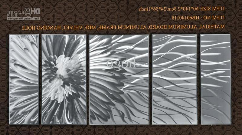 Most Popular Abstract Aluminium Wall Art With Aluminum Wall Art Divinity Of Denim Abstract Brushed – Bcasa (View 10 of 15)