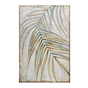 Most Popular Abstract Leaves Wall Art Intended For Amazon: Abstract Palm Tree Leaves Wall Art Painting On Canvas (View 3 of 15)