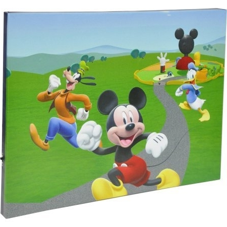 Most Popular Amazon: Mickey Mouse Clubhouse Led Light Up Canvas Wall Art Throughout Mickey Mouse Clubhouse Wall Art (View 3 of 15)
